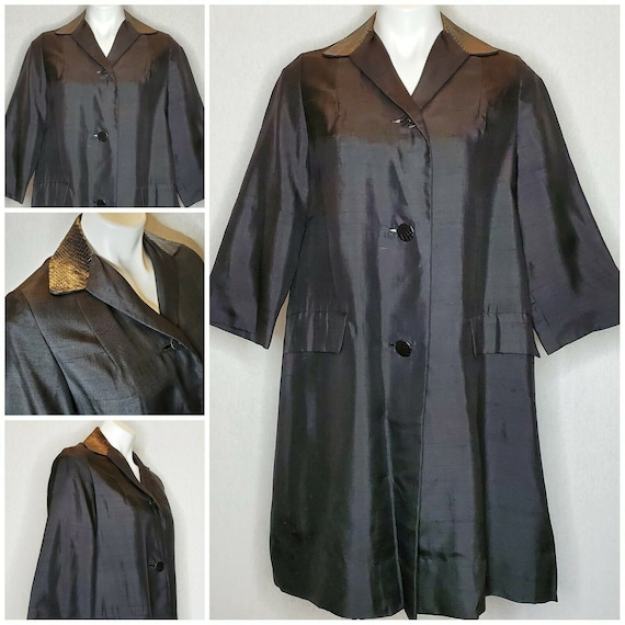 Ancient Silk Garment Embroidery Smock or Honeycomb Handmade Antique Silk Girl Coat