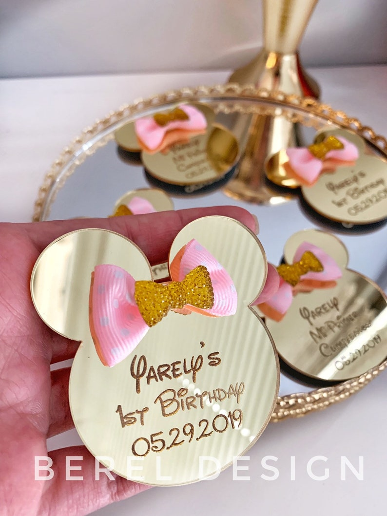 Disney Party Favors 10 pcs Minnie Mouse Favors First Birthday Favors Minnie Mouse Birthday Minnie Mouse MAgnets Mickey Concept