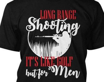 1bd8188b7 Long Range Shooting Like Golf Funny T Shirt But For Men Graphic Tee