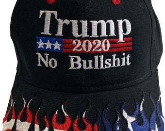a60eca318de Trump US Flag 2020 No Bullshit 58-756 Embroidered Baseball One Size Fits  All Structured Hat