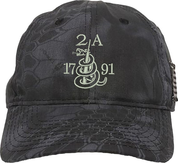 Gun 2A 1791 2nd Amendment Embroidered Baseball One Size Fits All Structured Hat