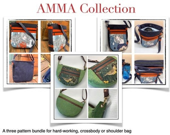 AMMA Collection - three pattern bundle for versatile cross-body bags