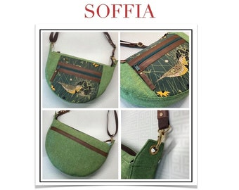 SOFFIA - pdf pattern for an AMMA Collection round-bottom bag