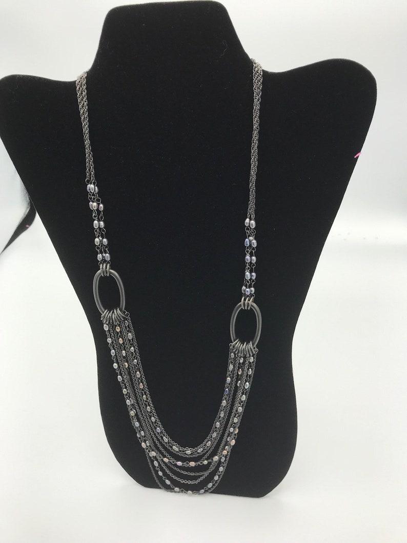 Lia Sophia Muliple Chains with Pearls