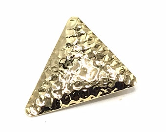 Vintage triangle gold tone brooch.