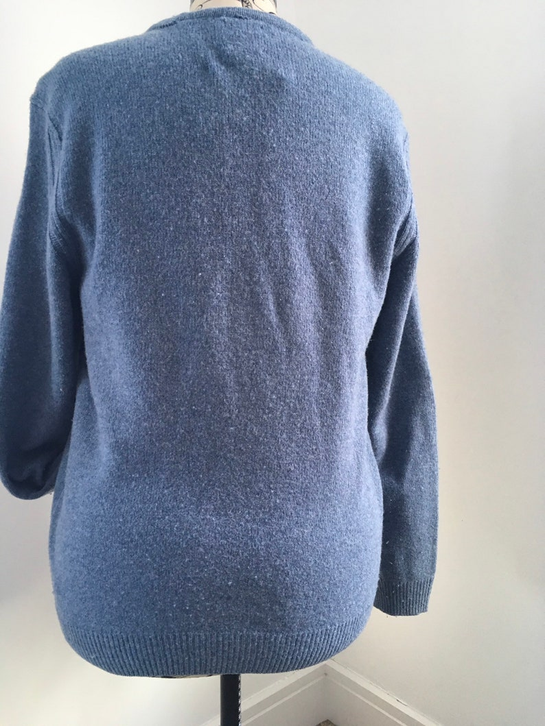 Blue lambswool cardigan