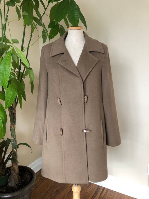 Wool cashmere peacoat, spring wool coat, double br