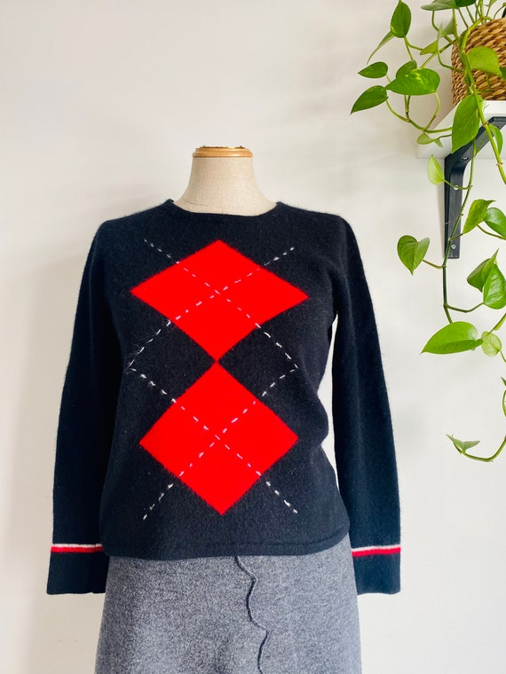 Everyday essential argyle pure cashmere sweater