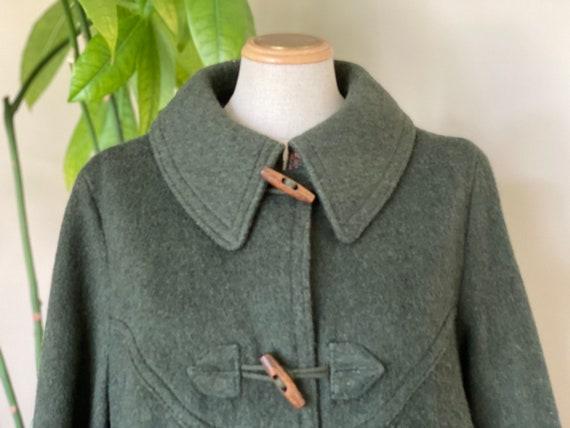 Classic duffle coat, Green winter long coat, long