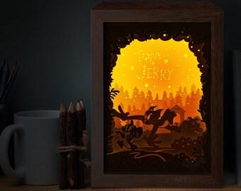 Paper Cut Light Box Template Files T And J SHADOW BOX Digital