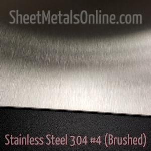 20 Gauge 0 036 Stainless Steel Sheet Metal 304 4 Etsy