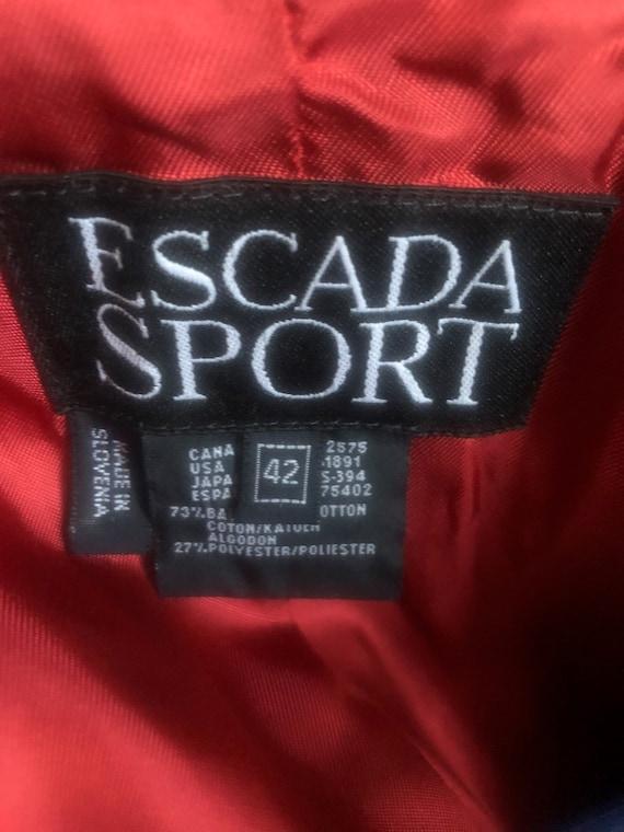 Vintage Escada Red Velvet Blazer - image 9