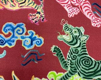 Chinese Dragon-Animal Print Upholstery-Cotton Upholstery Fabric-Upholstery Fabric-Upholstery Fabric-Upholstery-Commercial Upholstery