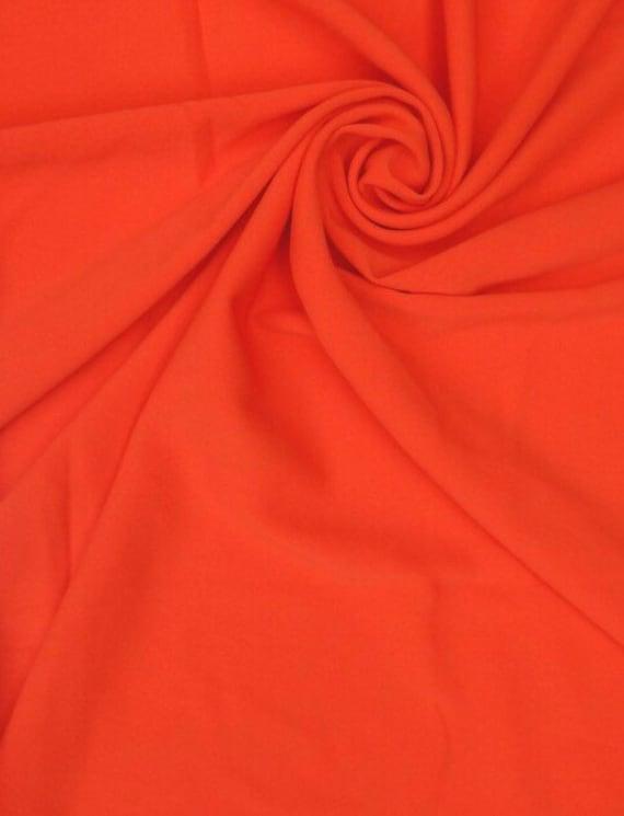 Red Lightweight Crepe Scuba Fabric 150 Cm