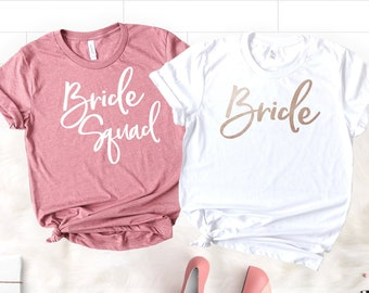 ca563dd55 Bachelorette Party Shirts, Bridesmaid Shirts, Bridesmaid Proposal Gift,  Squad Goals, Bridesmaid T-Shirts, Bride Squad