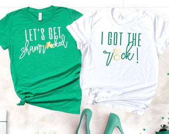 789317e0 Bachelorette Party Shirts, St Patricks Day, Bridesmaid Shirts, I got the  Rock, Lets get Shamrocked Shirts, Irish Bachelorette Shirts