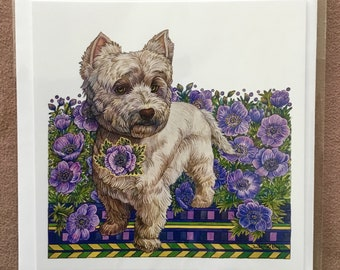 Westie note cards | Etsy