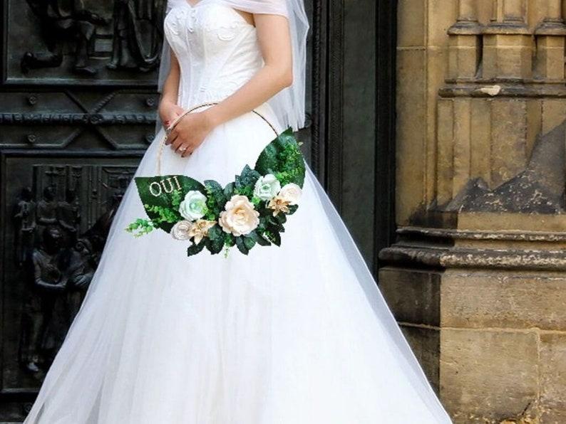 origami bride bouquet in crown