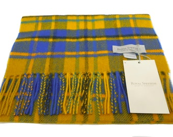 Antique Buchanan Tartan Check pure cashmere scarf new with tags warm