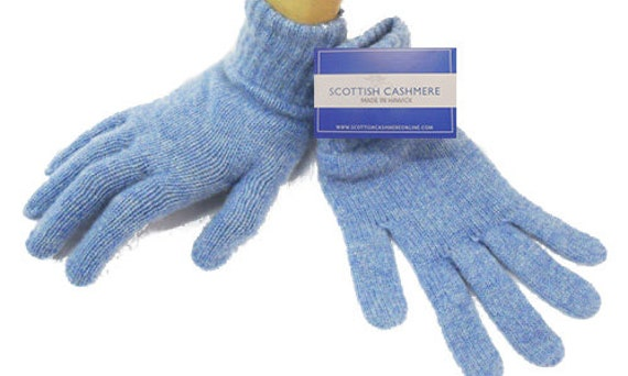 Scottish Collection Made in Scotland Ladies Cashmere Gloves 100/% Cashmere