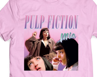 0b16d5f4b Pulp Fiction T Shirt / Mia Wallace