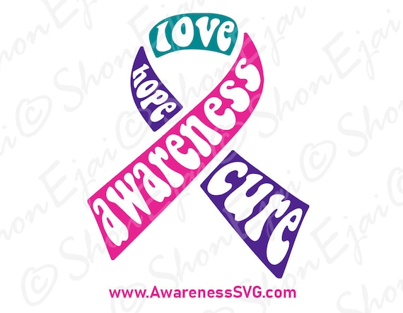 Thyroid Cancer Svg Thyroid Cancer Ribbon Svg Thyroid Cancer Etsy