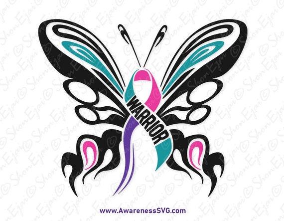 Thyroid Cancer Svg Thyroid Cancer Ribbon Svg Thyroid Cancer Etsy