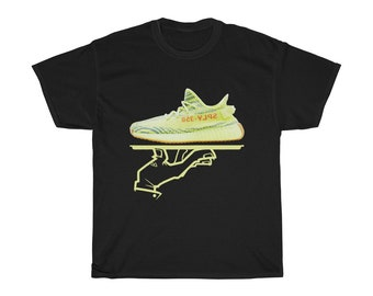dd9159635 Yeezy Boost 350 V2 Semi Frozen Yellow Sneakermatch Black Mens T Shirt
