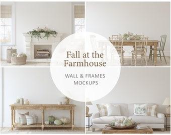 Interior mockup, fall at the farmhouse,