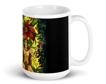Aries Zodiac Sign Black Mug