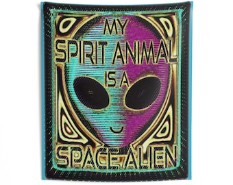 51 X 60 Indoor Wall Tapestries, Sprit Animal is a Space Alien