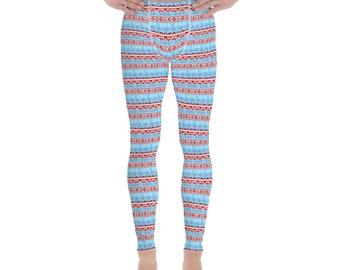 Ugly Christmas Sweater Men's Leggings #7