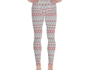 Ugly Christmas Sweater Men's Leggings #8