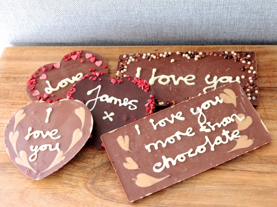 Personalised Chocolate Bars - 100g Bars - Milk, Dark or White Chocolate - Own Message - Any Toppings - Perfect Gift Idea