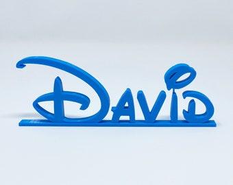 Disney Style Name Plate, Teacher Plate, RN Gifts, Registered Nurse, Custom Desk Plate, Name Plate, Disney Style Letters, Custom Name Plate