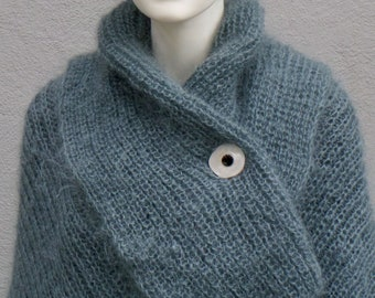 Gorgeous cuddly huge scarf made of mohair