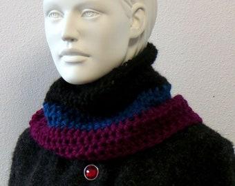 Cuddly scarf collar - baby alpaca wool, colorful