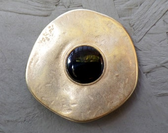 Magnetic brooch, 45 mm - gold