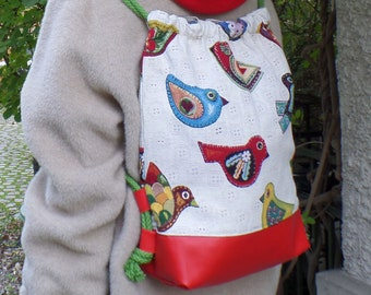 Backpack in fabric, very high quality and stable, single piece
