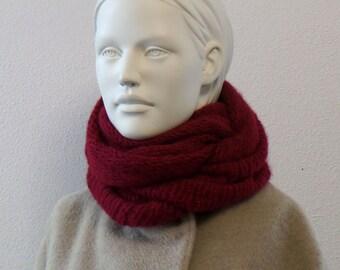 Loop scarf in alpaca with wool, beautifully cuddly