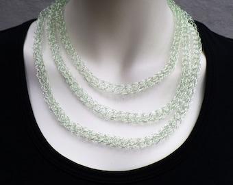 Decorative fine chain made of jewelry wire, light green
