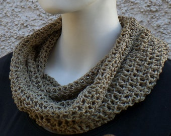 Summer scarf, hose scarf, taupe, cotton linen mixture