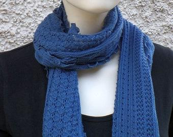 Scarf, Summer, Merino Wool, Blue