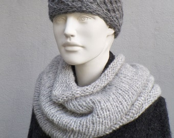 Tube scarf in alpaca with wool, beautifully cuddly