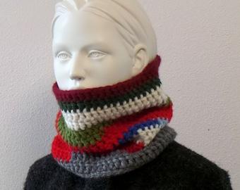 Cuddly scarf collar - merino alpaca wool, colorful
