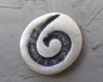 Magnetic brooch antique, 33 mm - silver