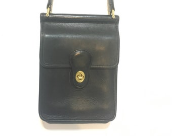 bc3178e716 Vintage Coach Murphy Black Leather Bag 9930