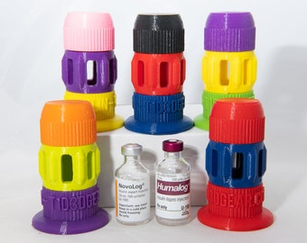Humalog / Novalog 10ml - 3 Piece 3D Printed Insulin Vial Vessel Protective Case