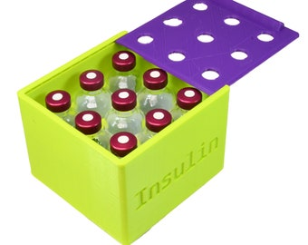 Insulin Caddy With Lid - 9 vial