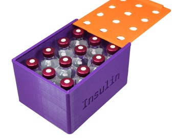 Insulin Caddy With Lid - 12 vial